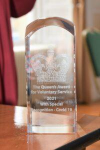 Shopper-Aide's prestigious Queen's Award for Voluntary Service.