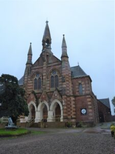 The unusual alternating colour scheme of Campbeltown Heritage Centre's stonework led to it being known as the 'tartan kirk' when it was Lorne Street Church.