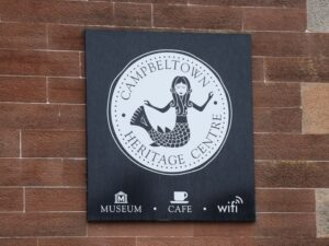 The mermaid on Campbeltown Heritage Centre's logo is inspired by one depicted on Campbeltown Cross.