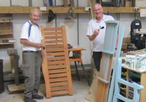 Dunoon Men's Shed has provided funding towards the benches and has built and painted them ready for them to be installed across Argyll.