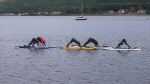 SUP yoga is another practice many paddleboarders enjoy.