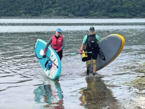 The water sport is a great way to spend time with friends. This photograph shows Alison Mcgrory and Jowita Kolibska.