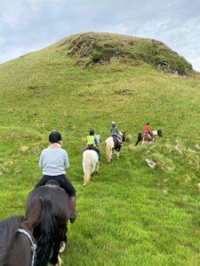 Roaming the hills on Wilder Ways' Killypole Loch trail ride.