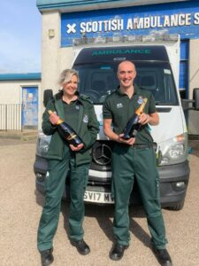 Paramedics Jacqueline McCallum and Mark Wasson smashed the trig challenge, taking first place.