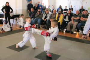 Youngsters fought it out in SG Taekwon-Do UK Highlands' first competition.