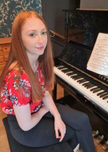 Pianist Emily Bennie.